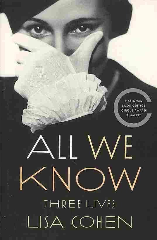 All We Know By Cohen, Lisa